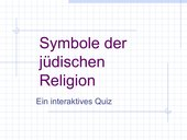 Quiz Symbole Judentum als PPT-tDatei