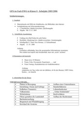 Schüler information zur GFS in EWG