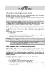 Amoklauf in der Schule - Beispiel Erfurt