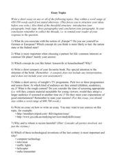 Random Essay Questions