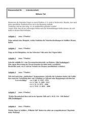 Literaturarbeit / Aufgaben zu Schillers