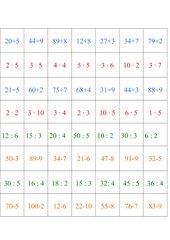 2. Klasse Grundrechenarten-Memo-Spiel / Zuordnungsspiel (leicht)