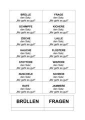 Deutsch Arbeitsmaterialien Wortfeld Sagensprechen