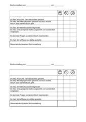 Bewertung Buchvorstellung Kl. 2
