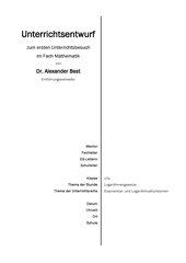 Logarithmengesetze - Uunterrichtsentwurf