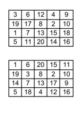 Bingo karten