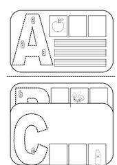 Das Alphabet- Buchstabenkarten für die Schüler