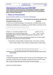ABC-Regeln Arbeitsblatt