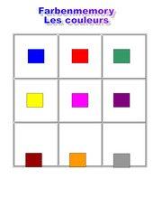 Memo-Spiel / Zuordnungsspiel : Farben