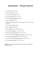 Satzbaupläne