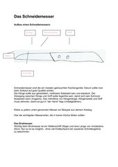 Arbeitsblatt Schneidemesser