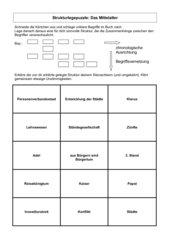 Strukturlegepuzzle Mittelalter