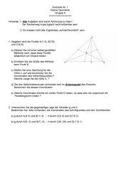 Ebene Geometrie (Test)