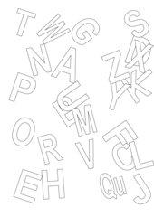 Einband Buchstabenheft