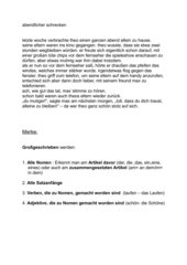 Groß- und Kleinschreibung -Text in Kleinbuchstaben als Abschreibübung