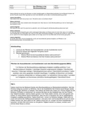 Übungsfälle zum Berufsbildungsgesetz (BBiG)