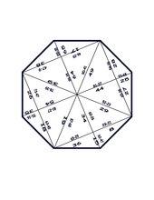 Achteck-Puzzle zur Subtraktion bis 100