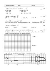 4teachers 1 mathearbeit klasse 4 wiederholung von klasse 3