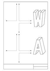 Buchstaben A und W