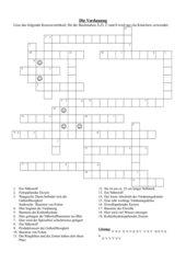 Kreuzworträtsel: Die Verdauung