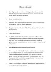 Haydn-Interview