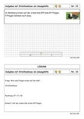 Sachaufgabenkartei - 3. Klasse - ZR bis 100 - mittelschwer - Streifenskizze