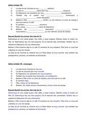 Arbeitsblatt zum Abschluss der Unidad 1B