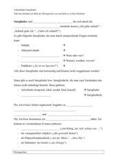 AB Satzglieder (mit Wortspeicher)