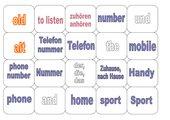 Memo-Spiel / Zuordnungsspiel: Englisch