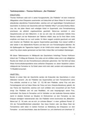 Textinterpretation zur Kurzgeschichte