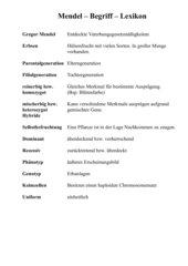 Mendel - Aufgabensammlung