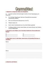 allgemeine Grammatik - 6. Schulstufe Hauptschule