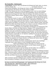 Mozart - Die Zauberflöte - Inhaltsangabe als Lückentext