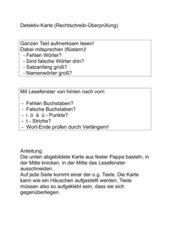 Detektiv-Karte zur Rechtschreib-Überprüfung