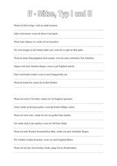 If - Sätze Typ I und II