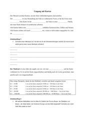 Arbeitsblatt Begriffe Kartenarbeit, Legende und  Maßstab