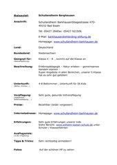 Ziel für Klassenfahrten- Schullandheim Barghausen