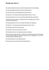 Quiz: Politisches System in Deutschland