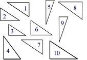 Folienvorlage rechtwinklige Dreiecke