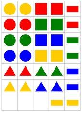 Formen-Zuordnungsspiel / Memo-Spiel