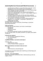 Aufsichtspflicht der Schule § 62 NSchG Kommentar