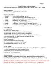 Kurzentwurf: Der Laut Ch/ch 1. Klasse