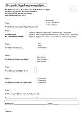 Pippi Langstrumpf Quiz / Astrid Lindgren Quiz