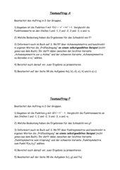 Teamaufträge zu Achsen- und Punktsymmetrie