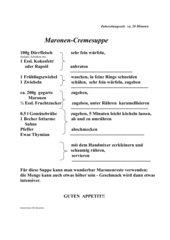 Maronen-Cremesuppe