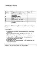 Lernstationen Steinzeit