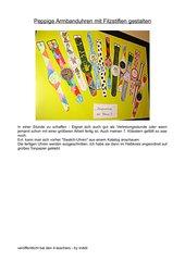 Peppige Armbanduhren mit Filzstiften gestalten