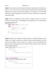 Kursarbeit - Programmiersprache Java