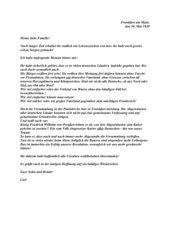 Brief eines Revolutionsteilnehmers 1848