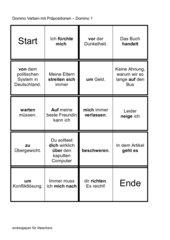 Verben mit Praepositionen - Domino - Der etwas andere Test